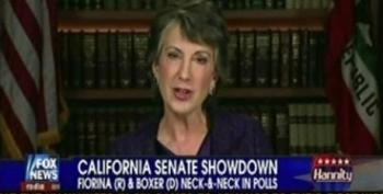Carly Fiorina Has Another 'Tough Interview' With Sean Hannity