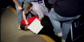 Rand Paul Supporter Stomps On Protester's Head
