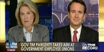 Tim Pawlenty Attacks Public Sector Unions - Calls Their Benefits And Pensions A Ponzi Scheme