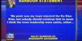 Haley Barbour Tries To Say He Wasn't Praising White Citizens Councils After He Praised Them
