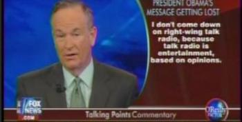 O'Reilly Says Mean Liberals Are Ignoring President Obama's Message Of Civility