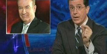 Stephen Colbert Defends Pappa Bear O'Reilly Against The 'Pinhead' Bloggers