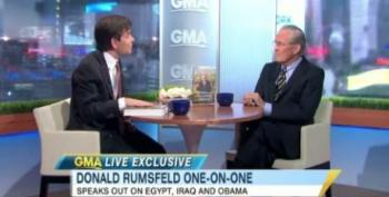 Donald Rumsfeld Still Lying About Weapons Inspectors In Iraq