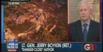 Glenn Beck Brings On Gen. Jerry Boykin To Fearmonger About The Coming IslamoMarxistSocialist Revolution In Egypt