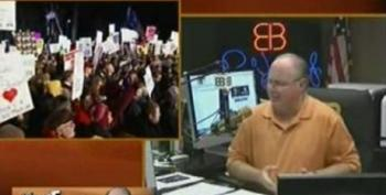 Ed Schultz Plays Rush Limbaugh's Hate Filled Rhetoric For Wisconsin Protesters