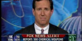 Rick Santorum Pushes False Report That Says WMD's Existed In Iraq