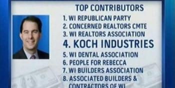 Walker Paying Back The Koch Brothers In Wisconsin With Union Busting And No-Bid Power Plant Sales