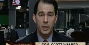 Scott Walker Claims He's Only Worried About Protesters Being Bused Into Wisconsin