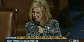 Marsha Blackburn Defends Defunding NPR