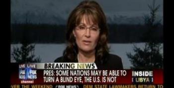 "Sarah Palin Wonders If Libya Action Is A ""Squirmish"""