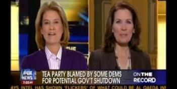 Bachmann: Don't Blame Tea Party For Budget Stalemate. We're Not Political!
