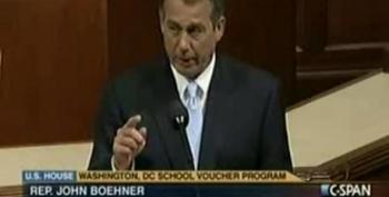 Boehner Chokes Up Over D.C. School Voucher Program