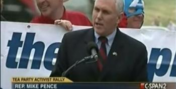 Mike Pence Leads His 'Tea Party' Crowd To Cheers Over Possibility Of Government Shutdown