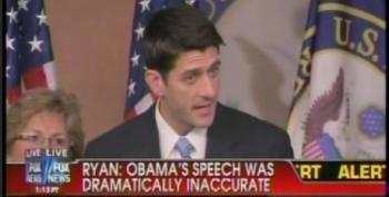 Rep. Paul Ryan Complains That President Obama's Criticism Of His 'Path To Prosperity' Was 'Dramatically Inaccurate'