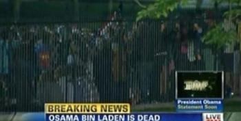 Crowds Cheering Outside Of White House On News Of Bin Laden's Death