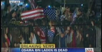 Crowds Cheering Outside Of White House And In New York On The News Of Bin Laden's Death