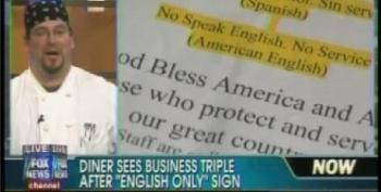 Fox Segment Features Laudatory Interview With Restaurant Owner Who Posted 'No Speak English, No Service' Sign