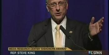 Steve King Accepts The 'Ode To Keith Olbermann' Award At The MRC  Ceremony