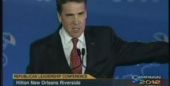 Rick Perry Claims Republicans 'Have The Wind At Their Back' For 2012 During Speech At Leadership Conference