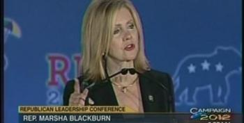 Marsha Blackburn Praises Reagan, As Though He'd Still Be Welcome In Today's Republican Party