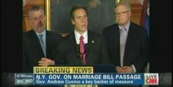 Gov. Cuomo Praises New York As Beacon For Social Justice After Passage Of Gay Marriage Bill