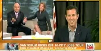 Santorum Accuses Obama Of Creating 'Only 240 Million Jobs'
