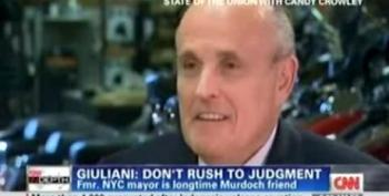 Giuliani Defends Murdoch: 'Don't Rush To Judgement'