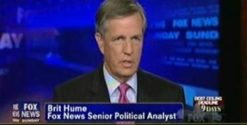 Brit Hume Admits That A Government Shutdown Would Be Blamed On Republicans