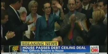 Gabby Gifford Returns To House For Debt Ceiling Vote