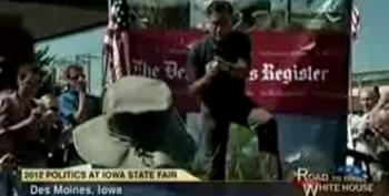 Romney To Angry Fairgoers: 'Corporations Are People, My Friend'