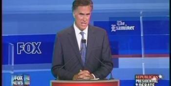 Mitt Romney Touts Privatizing Unemployment Benefits During Republican Debate