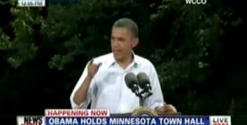 Obama Talks About Jobs During Minnesota Town Hall Event