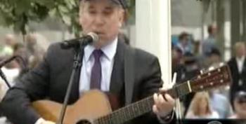 Paul Simon Performs 'The Sound Of Silence' At Ground Zero
