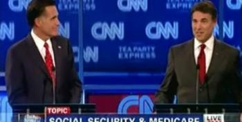 Romney And Perry Trade Jabs Again On Social Security At GOP Florida Debate