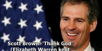 Scott Brown: 'Thank God' (Elizabeth Warren Kept Her Clothes On)