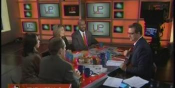 Up With Chris Hayes Panel On Erin Burnett's Dismissive Coverage Of OWS