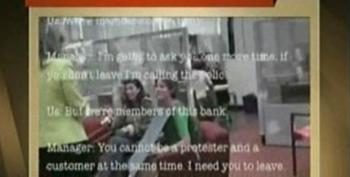 Chris Hayes Shows Footage Of Protesters Arrested At BofA For Attempting To Close Accounts