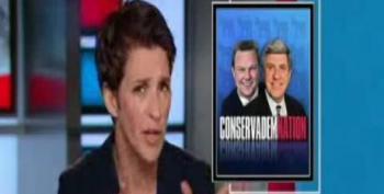 Maddow Blasts 'Sort-of Democrat' Ben Nelson For Cheering Herman Cain