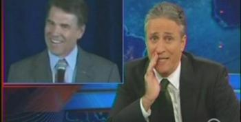 Jon Stewart Explains What Happened To Rick Perry During His Bizarre Speech In New Hampshire