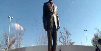 9-Foot-Tall Reagan Statue Unveiled At National Airport