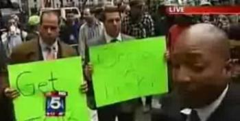 """The 1% Protest OWS: """"Get A Job!"""" """"Occupy A Desk!"""""""