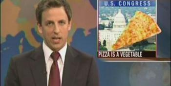 SNL's Seth Meyers Mocks Congress For Saying Pizza Is A Vegetable