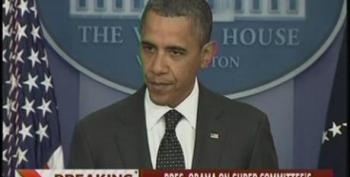 President Obama Threatens To Veto Any Changes To $1.2 Trillion In Cuts After Super Committee Failure