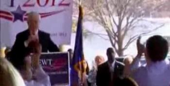 Gingrich Supporters Cheer Confederate Flag In South Carolina