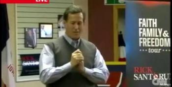 Santorum: 'Send A Message To The Man' By Voting For Me