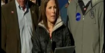 After Promising No Teleprompters, Bachmann Reads Speech From IPad
