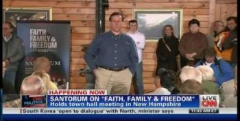 Rick Santorum Disses Saint Ronnie Reagan Over Social Security Reforms
