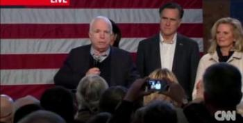 McCain: Romney Won't 'Lead From Behind Like Ronald Reagan'
