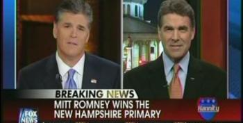 Sean Hannity Goes After Rick Perry For Calling Mitt Romney A Vulture Capitalist