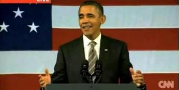 President Obama Sings To A Full House At The Apollo Theater